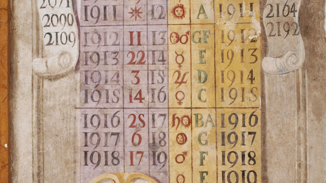 Riforma Calendario Gregoriano.Sala Del Calendario Complesso Monumentale Convento San